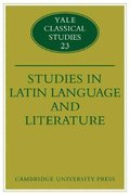 Studies in Latin Language and Literature 1st edition 9780521124614 0521124611