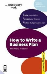 How to Write a Business Plan 3rd edition 9780749460303 074946030X