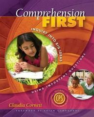 Comprehension First 1st Edition 9781890871987 1890871982