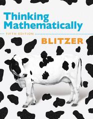 Thinking Mathematically 5th edition 9780321645852 0321645855