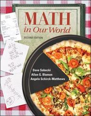 Math in Our World 2nd edition 9780072982534 0072982535