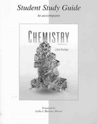 Student Study Guide to accompany Chemistry 2nd edition 9780077296841 0077296842