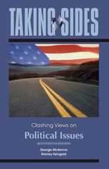 Taking Sides: Clashing Views on Political Issues 17th edition 9780078049927 007804992X