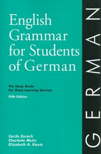 English Grammar for Students of German, 5th Edition 5th Edition 9780934034388 0934034389