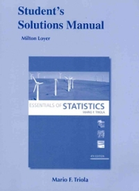 Student Solutions Manual for Essentials of Statistics 4th edition 9780321641519 0321641515