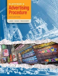 Kleppner's Advertising Procedure 18th Edition 9780136110828 0136110827