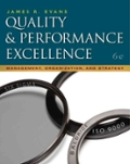 Quality and Performance Excellence Management Organization and Strategy