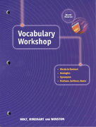 Vocabulary Workshop 1st Edition 9780030562969 0030562961