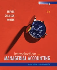 Introduction to Managerial Accounting with Connect Plus 5th edition 9780077398057 007739805X