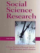 Social Science Research-6th Ed 6th Edition 9781884585876 1884585876