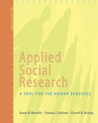 Applied Social Research 8th Edition 9781111792473 111179247X