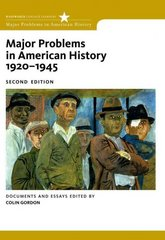 Major Problems in American History, 1920-1945 2nd edition 9780547149059 0547149050