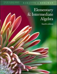 Hutchison's Elementary and Intermediate Algebra 4th edition 9780073384191 0073384194