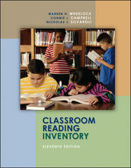 Classroom Reading Inventory 11th Edition 9780073131276 007313127X
