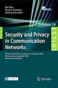 Security and Privacy in Communication Networks 1st edition 9783642052835 3642052835