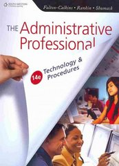 The Administrative Professional 14th edition 9780538731041 0538731044