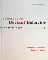 Sociology of Deviant Behavior 14th edition 9780495811671 049581167X