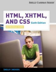 HTML, XHTML, and CSS 6th Edition 9780538747462 0538747463