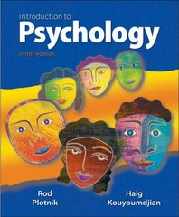 Introduction to Psychology 9th edition 9780495903444 0495903442