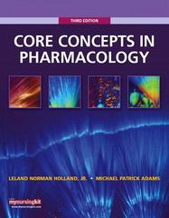 Core Concepts in Pharmacology 3rd edition 9780135077597 0135077591