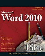 Word 2010 Bible 3rd Edition 9780470591840 0470591846