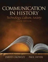 Communication in History 6th Edition 9780205693092 0205693091