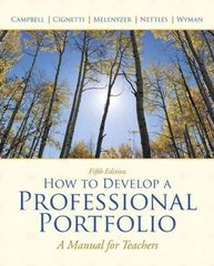How to Develop A Professional Portfolio 5th Edition 9780137034543 0137034547