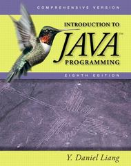 Introduction to Java Programming, Comprehensive 8th edition 9780132130806 0132130807