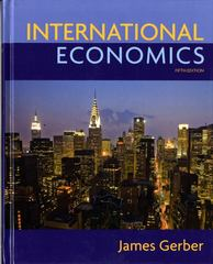 International Economics 5th Edition 9780135100158 0135100151