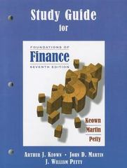 Study Guide for Foundations of Finance 7th edition 9780136113669 0136113664