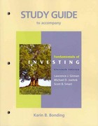 Study Guide for Fundamentals of Investing 11th edition 9780136115632 0136115632
