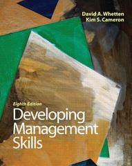 Developing Management Skills 8th Edition 9780136121008 0136121004