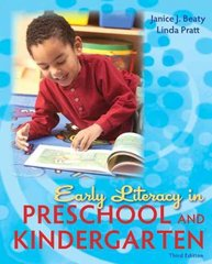 Early Literacy in Preschool and Kindergarten 3rd edition 9780137056989 0137056982