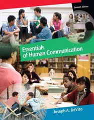 Essentials of Human Communication 7th edition 9780205688081 020568808X