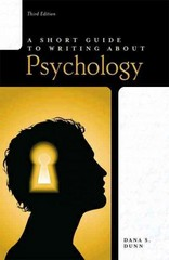 Short Guide to Writing About Psychology 3rd Edition 9780205752812 0205752810