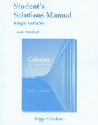 Student Solutions Manual, Single Variable for Calculus 1st edition 9780321664105 0321664108