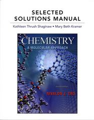Selected Solutions Manual for Chemistry: A Molecular Approach 2nd edition 9780321667540 0321667549
