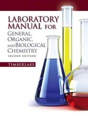 Lab Manual for General, Organic, and Biological Chemistry 2nd edition 9780321695291 0321695291
