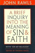 A Brief Inquiry into the Meaning of Sin and Faith 0 9780674047532 0674047532