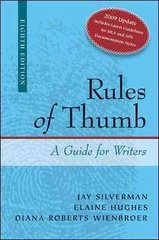 Rules of Thumb APA / MLA Documentation Update 8th Edition 9780077397098 0077397096