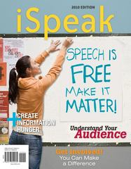 iSpeak: Public Speaking for Contemporary Life 2010 Edition 3rd edition 9780077309435 007730943X