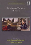 Renaissance Theories of Vision 1st Edition 9781317066408 1317066405
