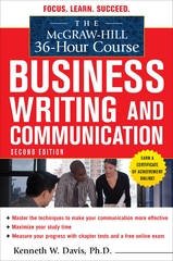The McGraw-Hill 36-Hour Course in Business Writing and Communication, Second Edition 2nd Edition 9780071738262 0071738266