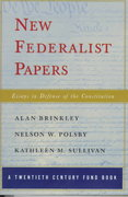 New Federalist Papers 0 9780393046199 0393046192