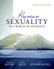 Human Sexuality in a World of Diversity (paperback) 8th edition 9780205786138 0205786138