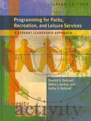 Programming for Parks, Rec and Leisure Services (W/Cd) 3rd Edition 9781892132871 1892132877
