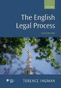 The English Legal Process 13th edition 9780199581948 0199581940