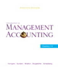 Introduction to Management Accounting 15th edition 9780136102779 0136102778