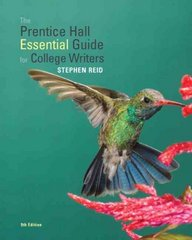 The Prentice Hall Essential Guide for College Writers 9th Edition 9780205802104 0205802109