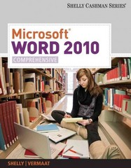 Microsoft Word 2010 1st edition 9781439079003 1439079005